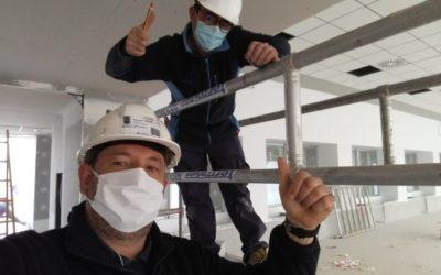 Seguimos trabajando: en la obra de climatización de Saler Homes