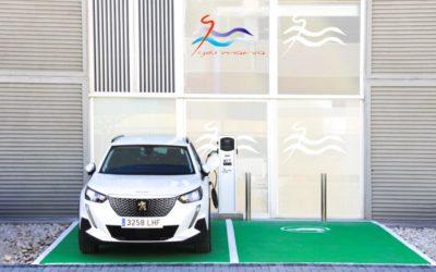 Germanía instala un punto de recarga de vehículos eléctricos en su sede