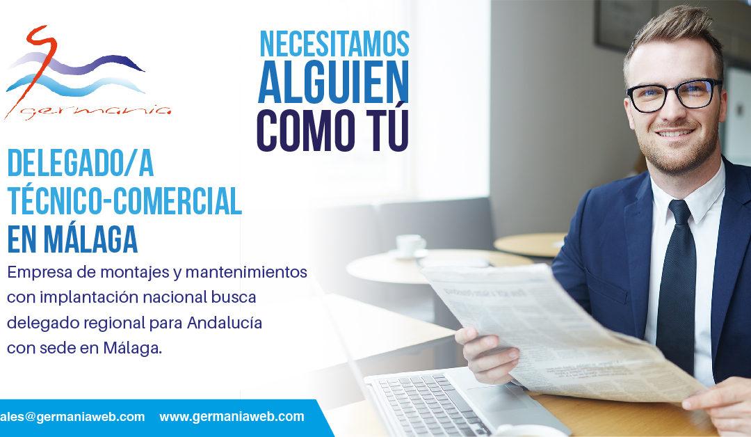 Oferta de empleo: Buscamos delegado/a técnico-comercial en Málaga