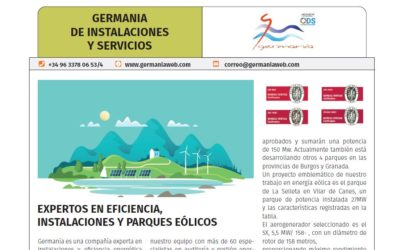La Revista Energética dedica un artículo a los proyectos de Germanía